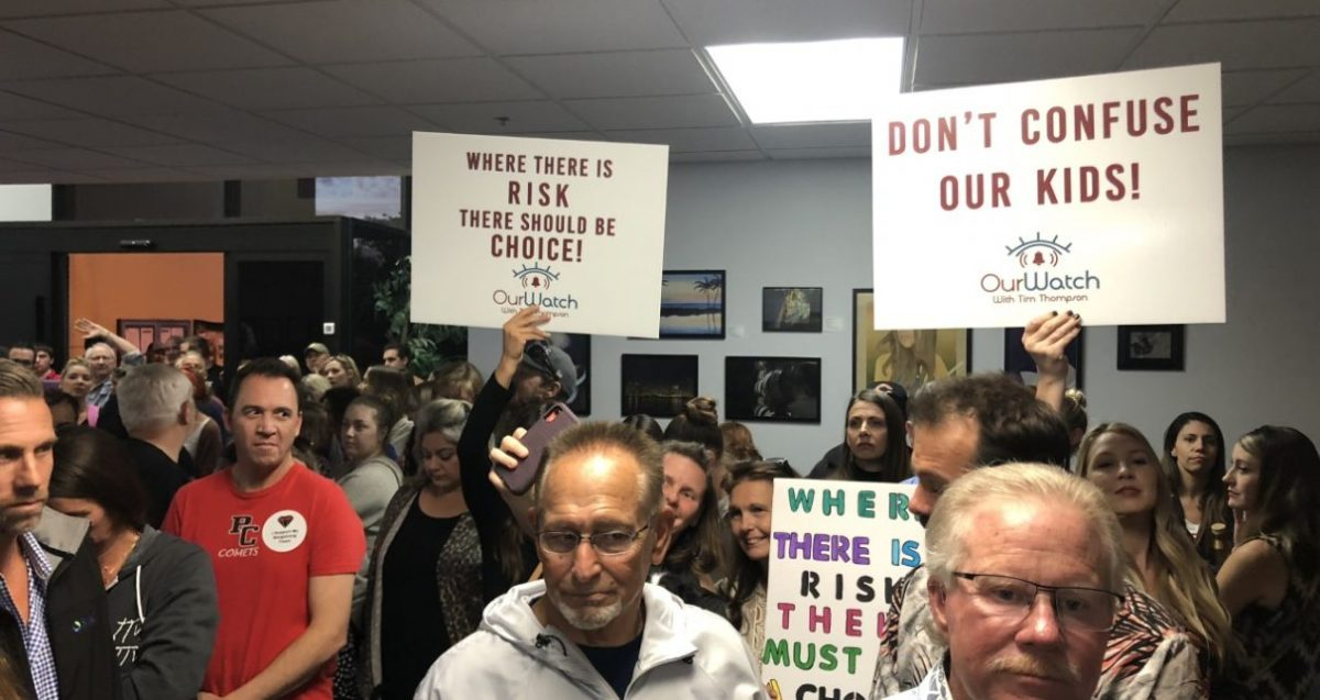 California Parents Flood School Board Meeting – Demand Parental Rights Sanctuary Regarding Mandatory Vaccines and Sex Indoctrination