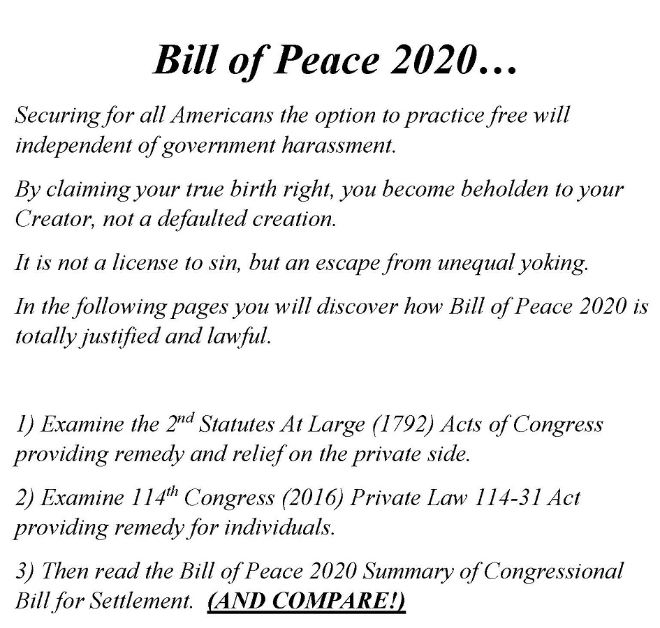 Bill of Peace 2020 Settlement Offer, Current Status & Deadline