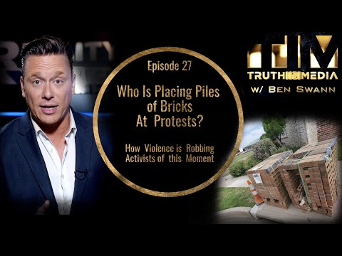 Who Is Placing Piles of Bricks at Protests?