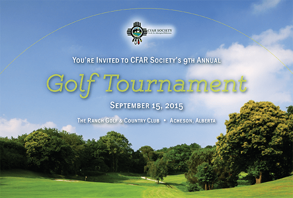 cfar society golf tournament - 2015 - banner