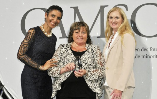(From Left) Cassandra Dorrington, President, CAMSC; Janice Larocque, President, Fast Labour Solutions Ltd; Trudy Lendvai, Senior Director of Procurement, PepsiCo
