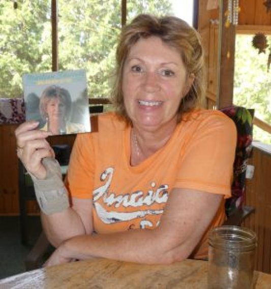 Marleen Fawcett at home. Zandbergen photo, Nation Valley News