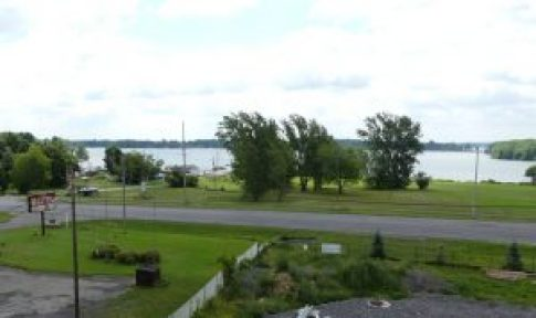 The view of the St. Lawrence River, through one of the upper windows. Zandbergen photo, Nation Valley News