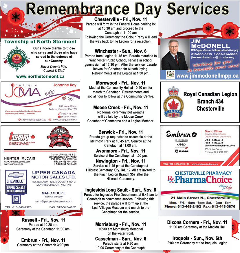 Remembrance Day November 3, 2016