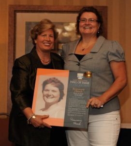 Rosemarie Hauch is inducted into the 'Lady Vols' track team Hall of Fame in Tennessee. Facebook photo