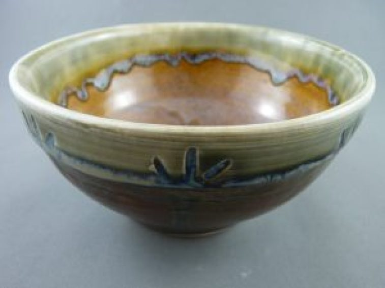 A bowl by Joan Cox.