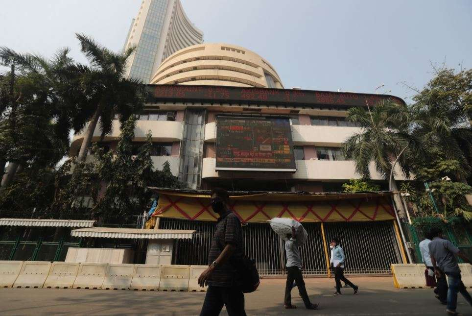 As the Corona cases escalated, the Sensex slipped below 50,000