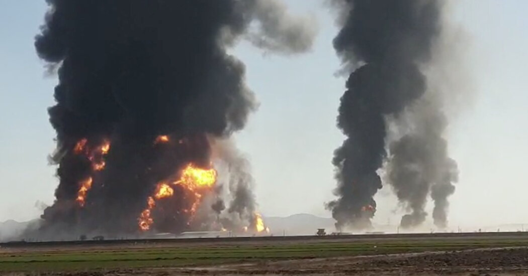 Explosive fuel tank ignites huge fire on Afghanistan-Iran border