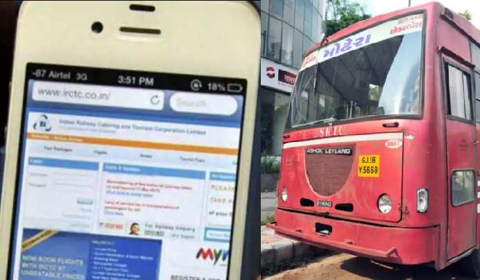 Now bus tickets can also be booked from the railway website