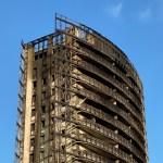 La Torre dei Moro di via Antonini il giorno dopo l'incendio