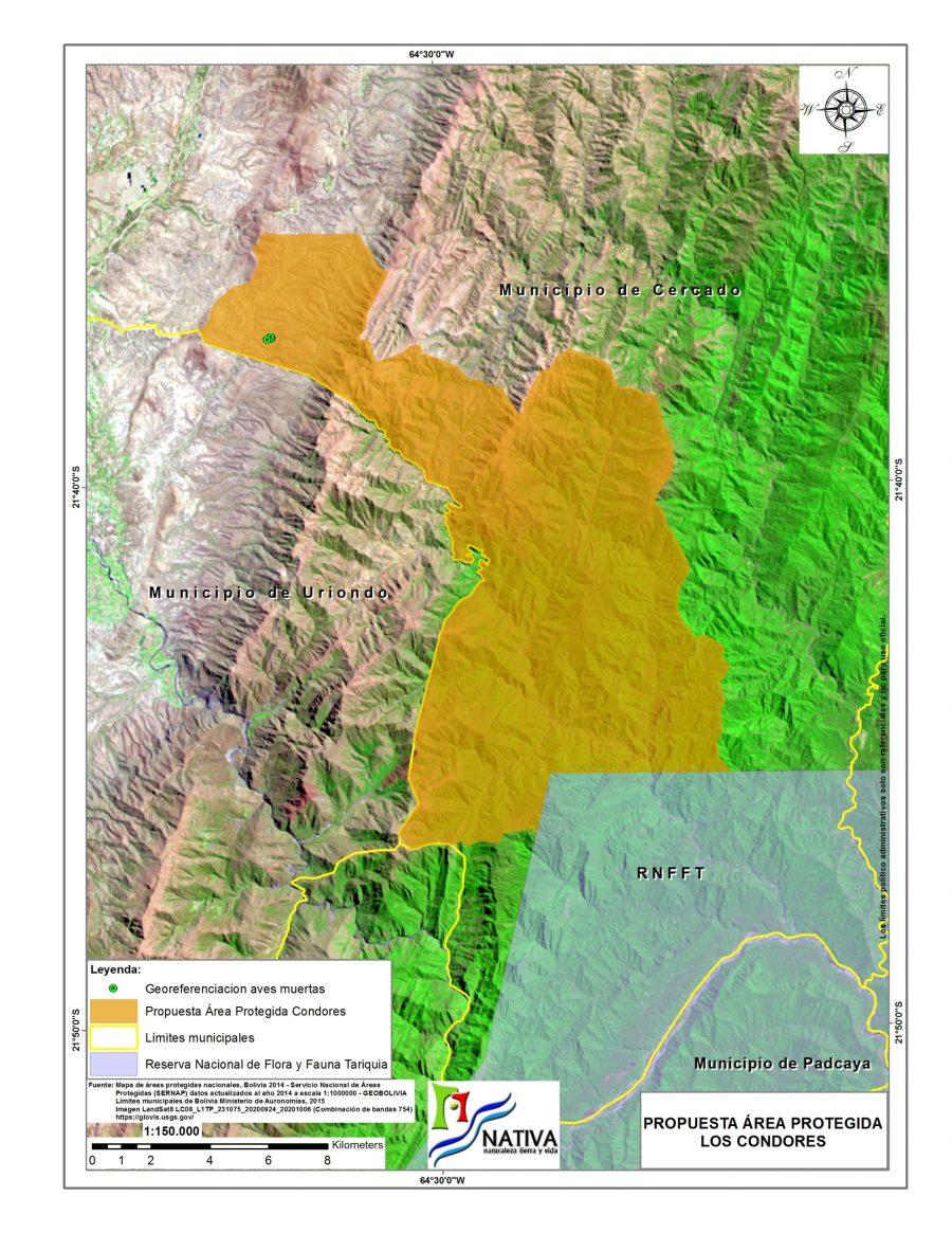 Polígono preliminar del área protegida propuesta