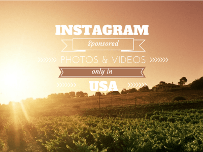 Landscape with text about sponsored photos and videos on Instagram