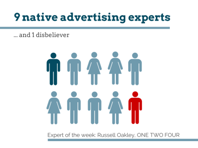 9 native advertising experts Russell Oakley