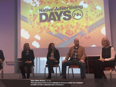 Native Advertising DAYS twitter