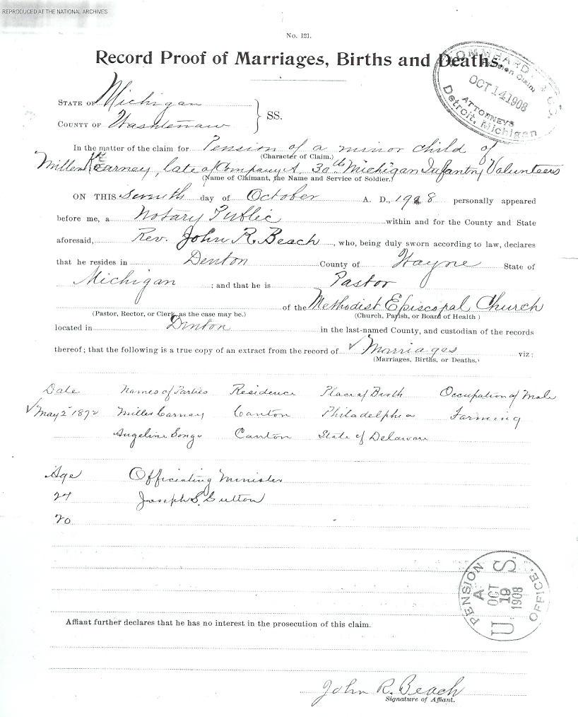 Michigan Birth Certificate