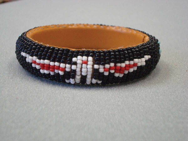 Hard Beaded Bangle Bracelet 1-701
