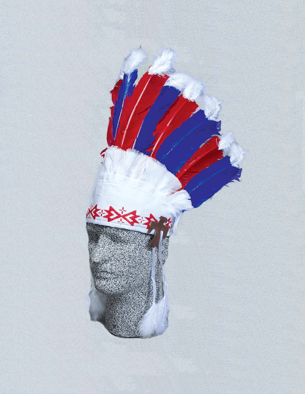 9 Feather Indian Headdress