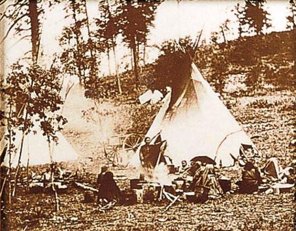 Apache Camp Tin-Type Print 16-12-11