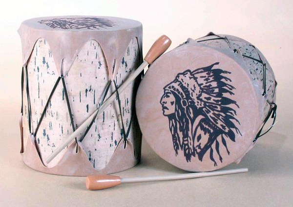Birch Drum with Indian Chief TomTom 68-1613-S