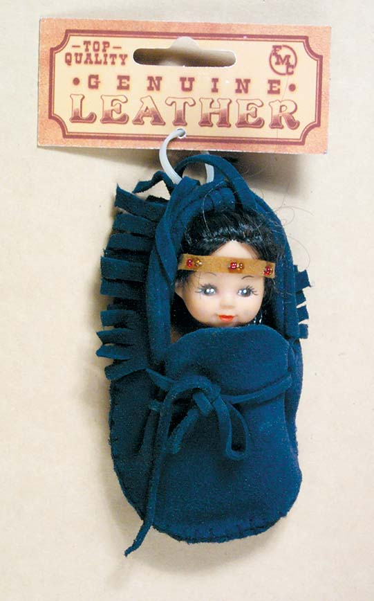 Blue Papoose Necklace with Indian Doll 68-4527