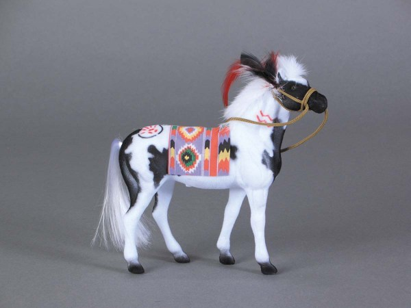 Flocked Paint Pinto Horse With Indian Blanket 10-164