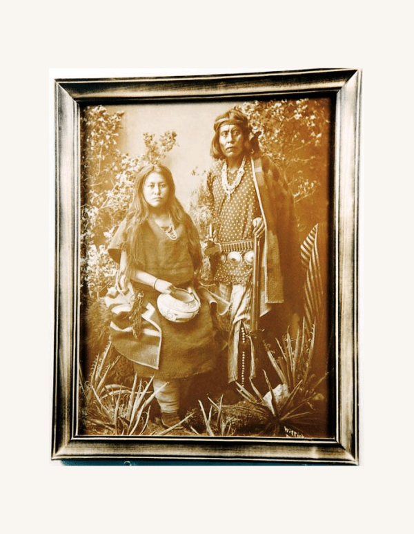 Gayentenito & Navajo Wife Tin-Type Print