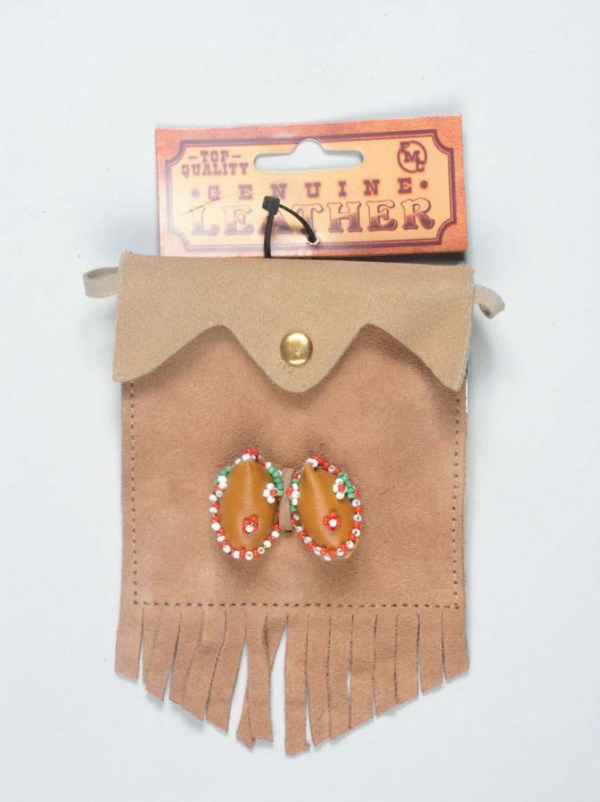 Girls Suede Purse with Moccasins