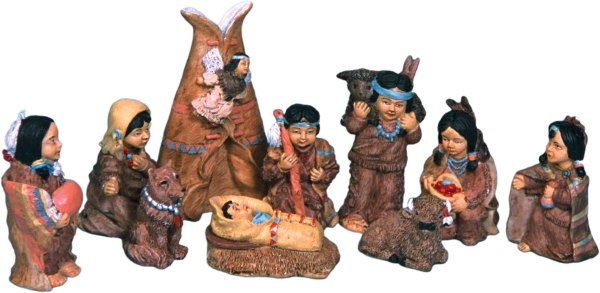 Polyresin Native American Set 11-33362