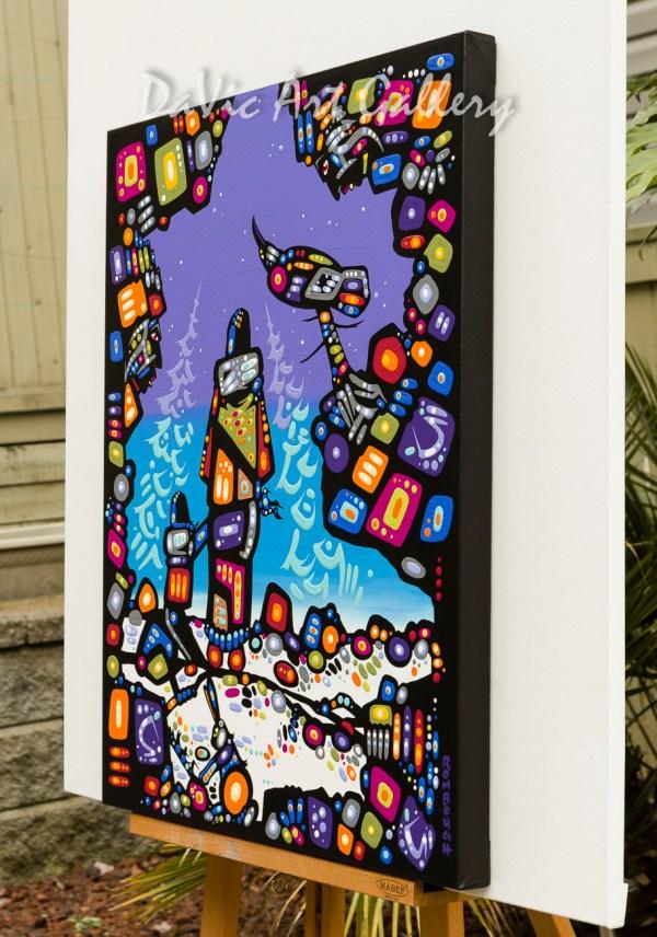'travelling Night' Dene Artist John Rombough