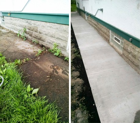 Poured Concrete Walkway