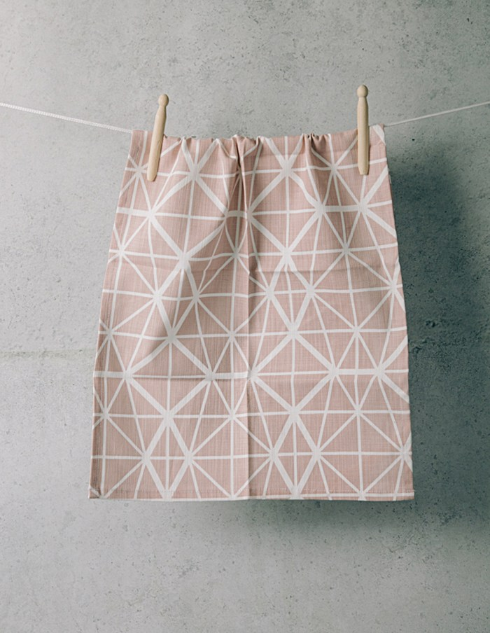 facet-pink-tea-towel