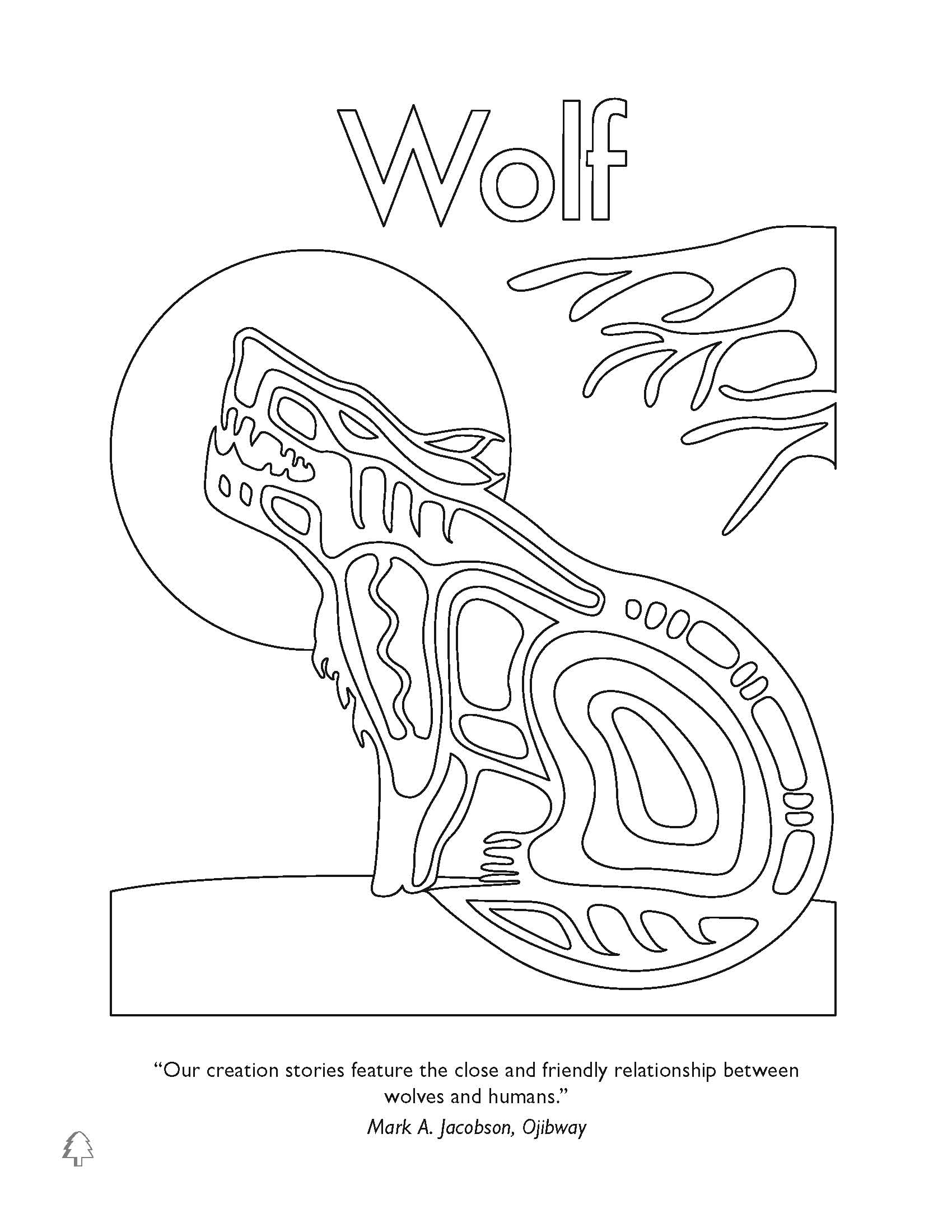 Native American Wolf Coloring Page Coloring Pages