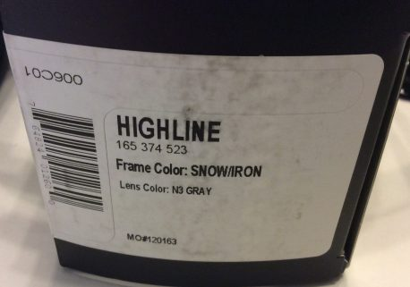 Native Eyewear Highline Sunglasses Snow White Iron Black - POLARIZED N3 Gray