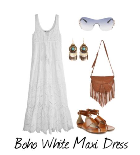 Boho White Maxi Dress