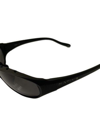 Native Eyewear Throttle Sunglasses - Matte Black Frame - Polarized Gray Lens