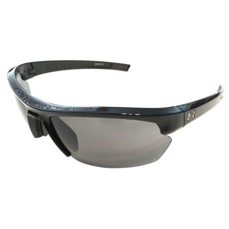 Under Armour Stride XL Sunglasses UA - Shiny Black Frame - Gray Lens