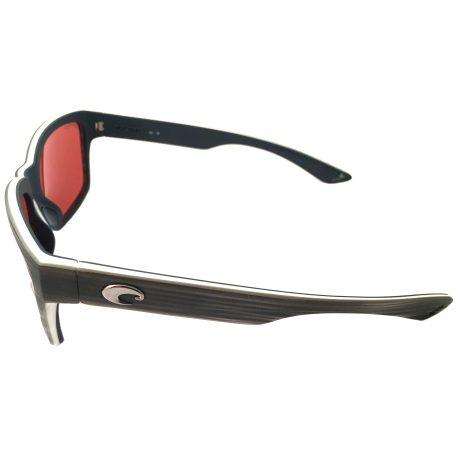 Costa Del Mar Playa Sunglasses - Matte Silver Teak White Blue POLARIZED Mirror 580P