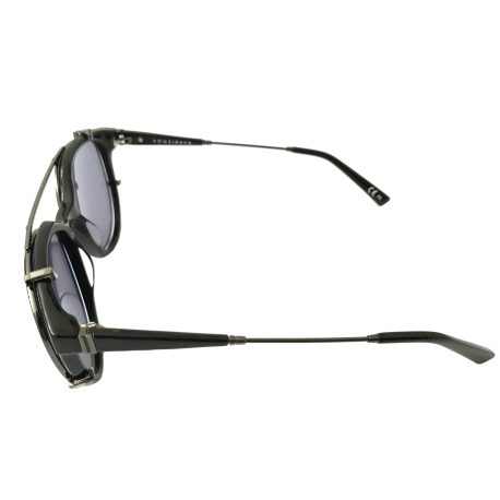 VonZipper Hyde Sunglasses - Gloss Black Gunmetal - Lt. Blue w/ Clip-On
