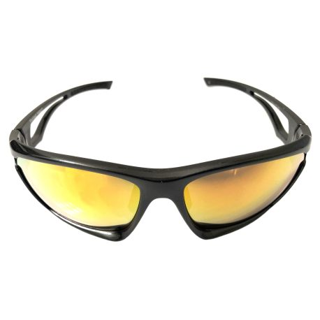 Optic Nerve Variant Sunglasses - Shiny Carbon - Smoke Red Mirror
