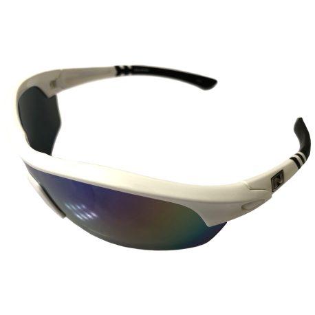 Optic Nerve Thujone 3.0 Sunglasses - Shiny White w/ Black - Green Mirror XTRA Lens