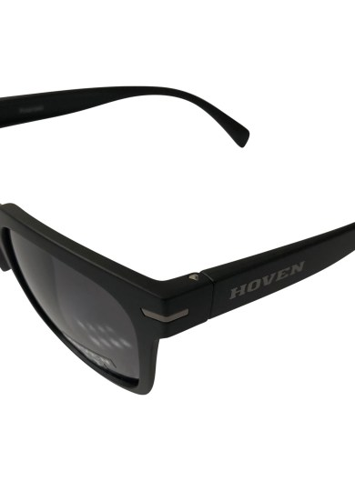 Hoven Vision The Merit Sunglasses - Matte Black POLARIZED Grey Lens