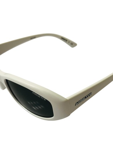 Arnette Lizard Sunglasses - White Frame - Grey Lens AN4266 262487