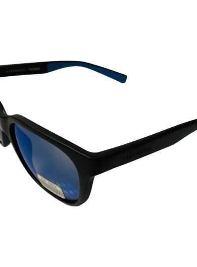 Serengeti Egeo Sunglasses 8679 - Sand Blasted Black POLARIZED Blue