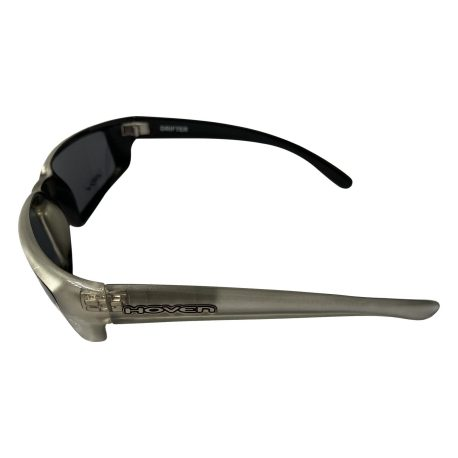 Hoven Drifter Sunglasses - Hoven Vision - Silver Frost Black Frame - Grey Lenses 100% UV Protection