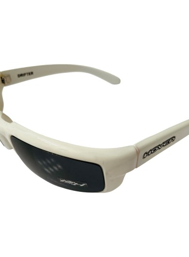 Hoven Drifter Sunglasses - Hoven Vision - White Frame - Grey Lenses 100% UV Protection