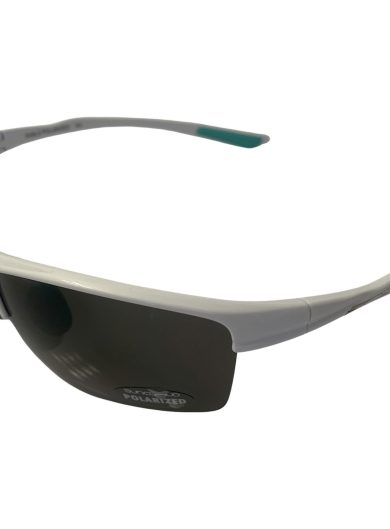 Suncloud Sable Sunglasses - Shiny White Frame - Polarized Gray Lens