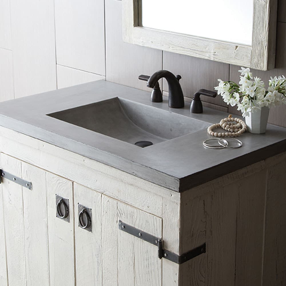 Palomar Concrete Vanity Top With Integrated Sink Native Trails