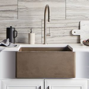 ventana rectangular concrete bar sink