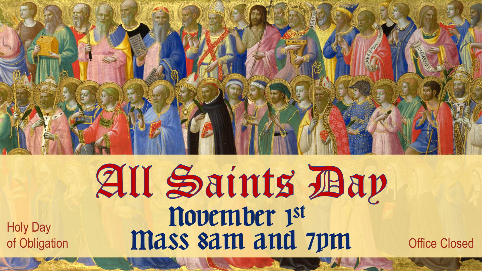 All Saints Day Church Of The Nativity