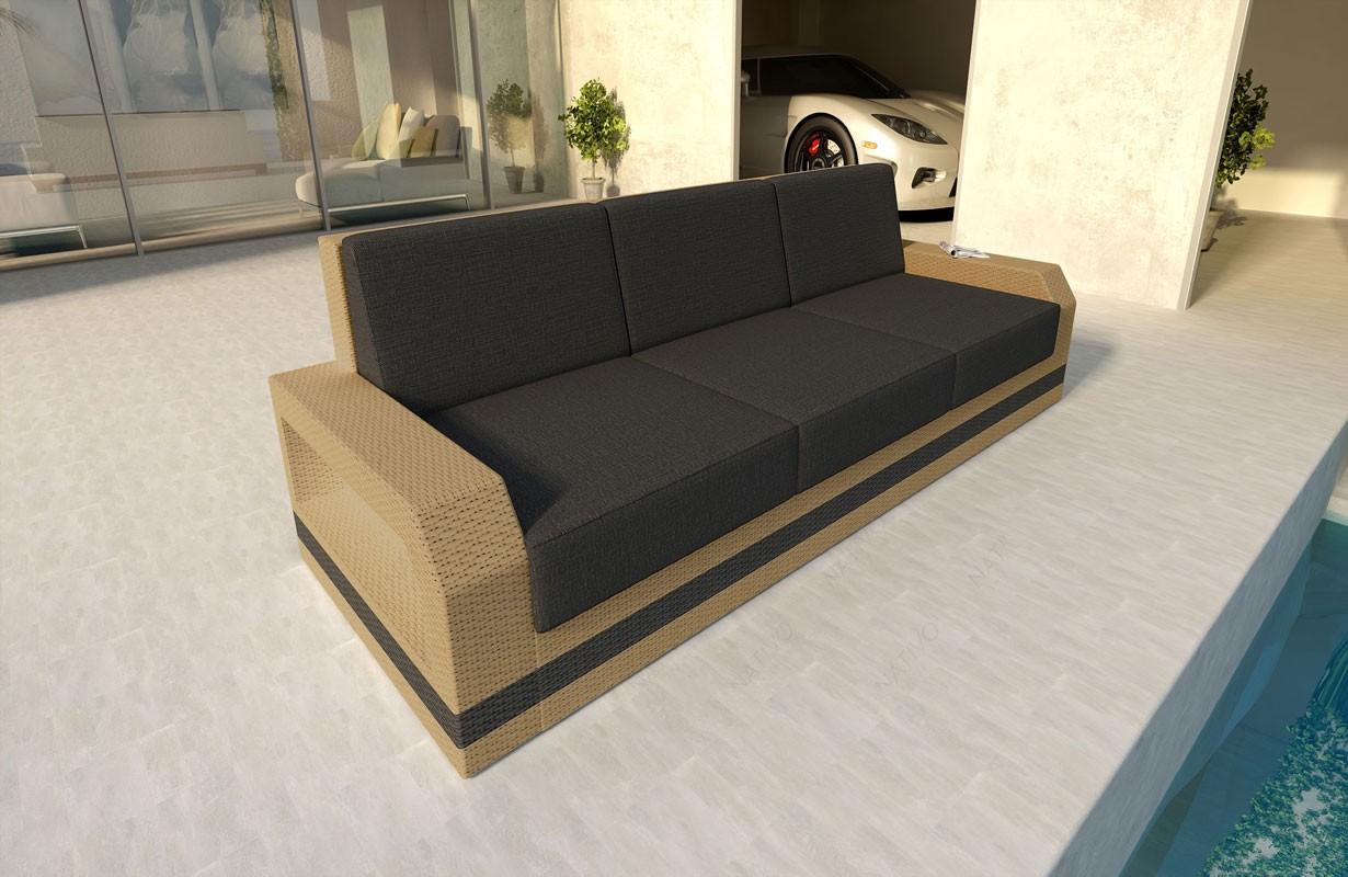 3 Sitzer Rattan Sofa Rattan Lounge Sofa Mirage V1 In Rattan Von